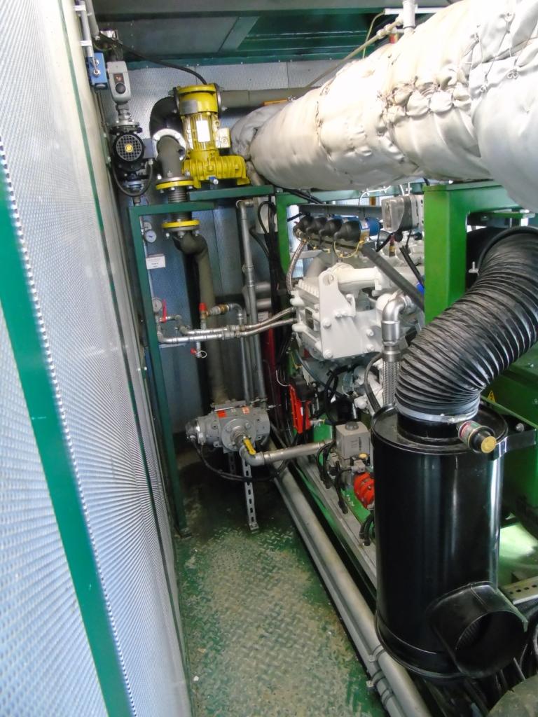 De WKK-installatie voor de stroom- en warmteopwekking.